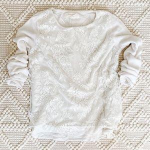 Zara // Lace Overlay Sweater